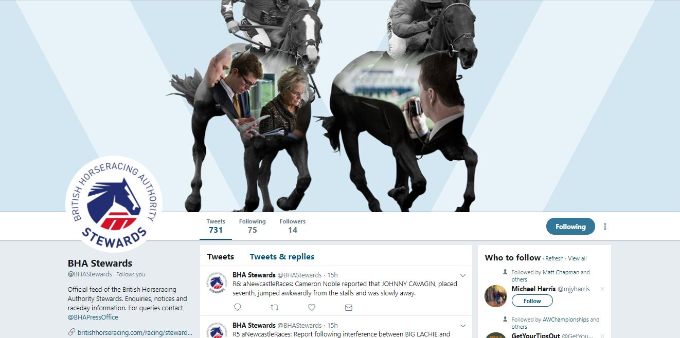 BHA launches @BHAStewards twitter feed - The British