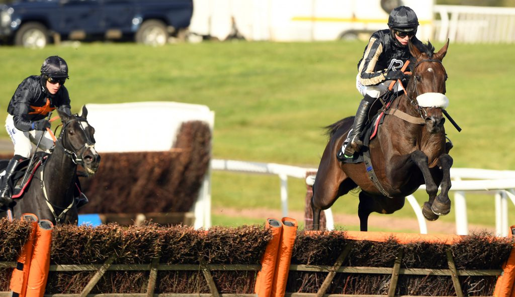 McFabulous and Harry Cobden jump the last and ease clear to win from Courtandould  Chepstow