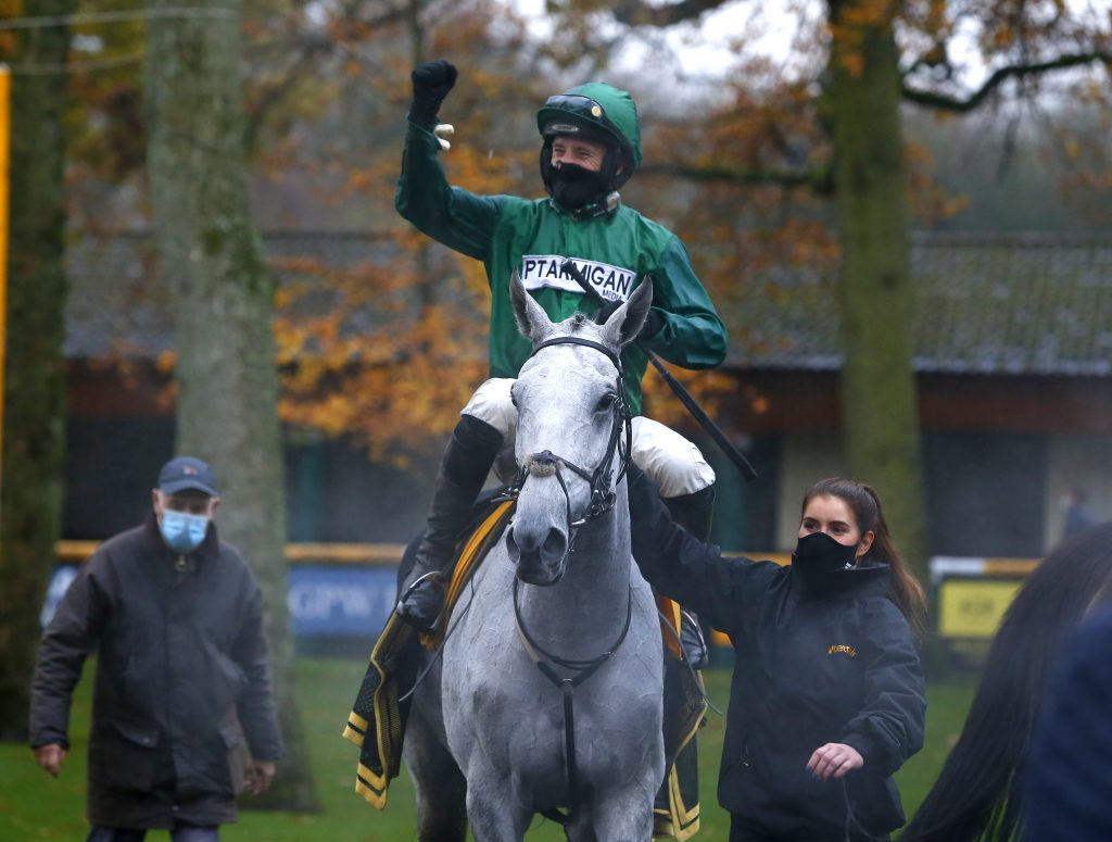 Bristol De Mai and Daryl Jacob after winning The Betfair Chase